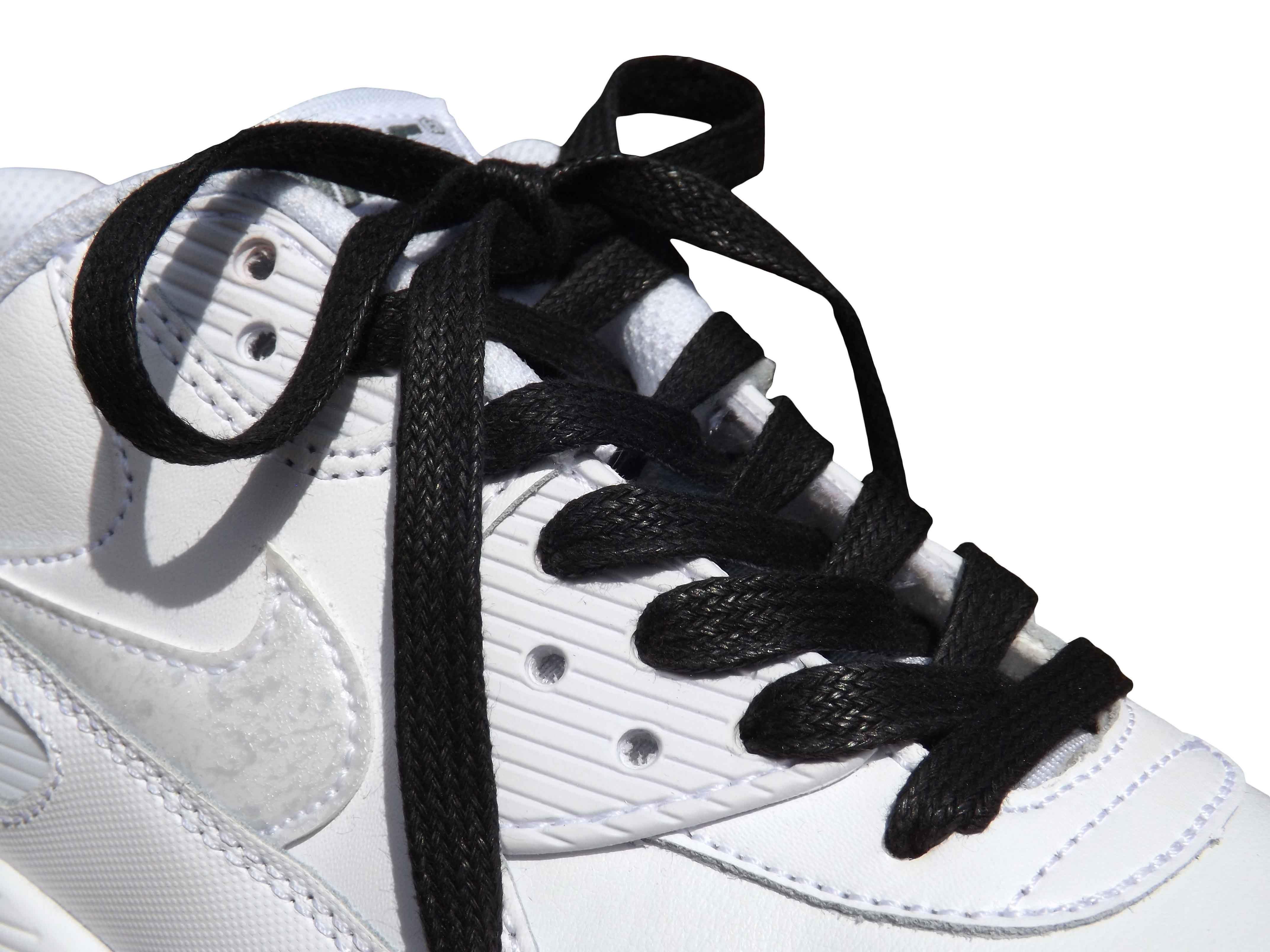 Black Flat Wax Laces
