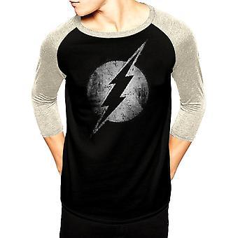 Dc Originals-Flash Logo Mono Distressed T-Shirt