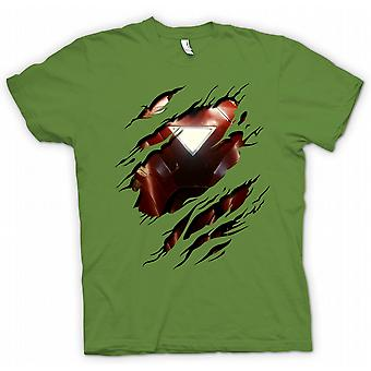 Mens T-shirt - Iron Man 2 Dreieck Arc - Superhero Riss Design