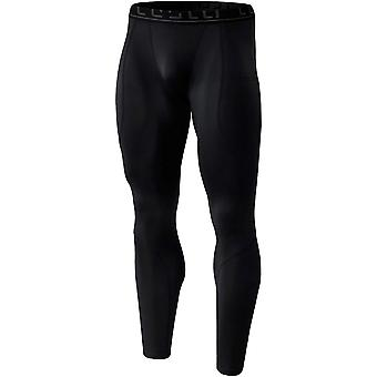 TSLA Tesla YUP43 Thermal Winter Gear Baselayer Compression Pants - Black/Black