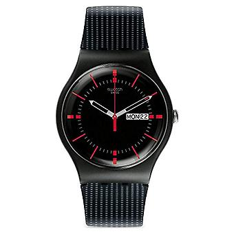 Swatch SUOB714-mäns armbandsur, silikon, färg: svart