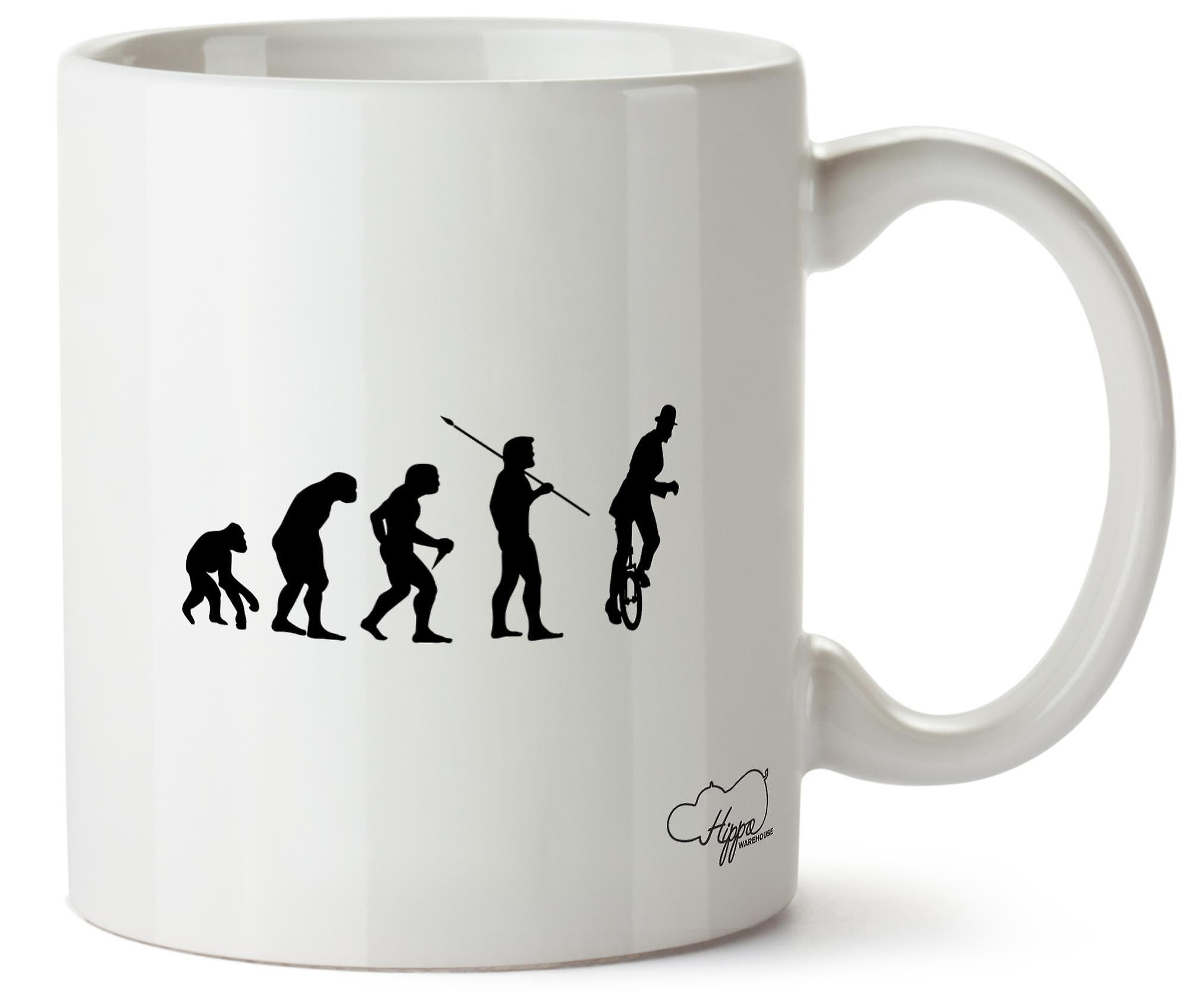 Hippowarehouse Circus Acrobat Evolution (Unicycle) Printed Mug Cup Ceramic 10oz