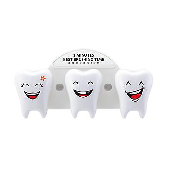 Toothshaped Toothbrush holder for three persons