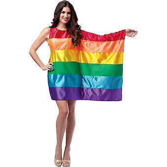 Costume adulte du Rainbow Flag USA
