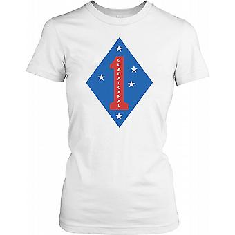 1st Marine Division Gaudalcanal Insignia Ladies T Shirt