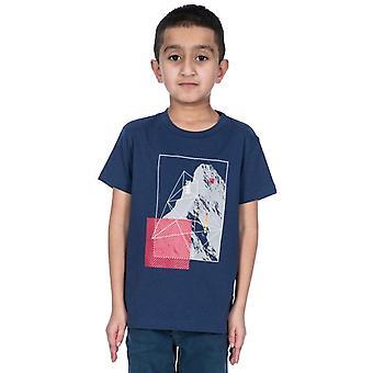Trespass pojat Lowie lyhythihainen graafinen puuvilla T-paita