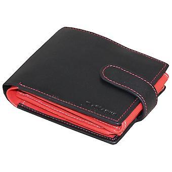 Rallegra Large Multifold Wallet - Black/Blue