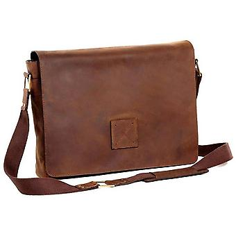 Ashwood nahka Hammersmith lehmä muta Pedro Messenger Bag-MUD Brown