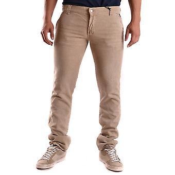 Roy Roger-apos;s Ezbc159002 Hommes-apos;s Beige Denim Jeans