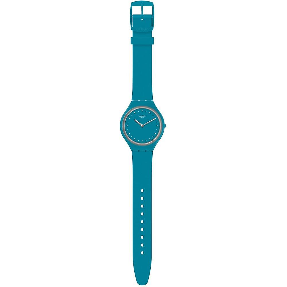 Swatch Svol100 Skinautique Blue Silicone Watch