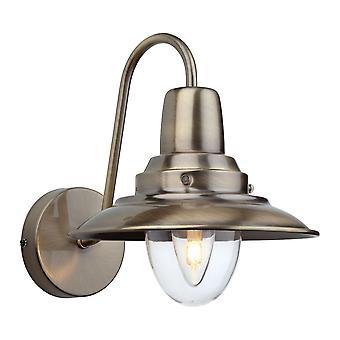 Erstlicht-1 Light Indoor Wall Light Antique Brass, Clear Glass-8686AB