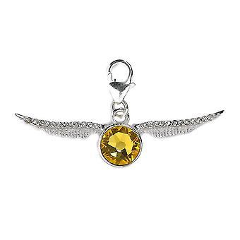 Harry Potter Swarovski Crystals Golden Snitch Clip on Charm