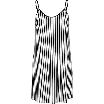 Urban Classics Women's Summer Dress Striped Pleated Slip
