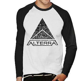 Alterra Logo Subnautica Black Men es Baseball Long Sleeved T-Shirt
