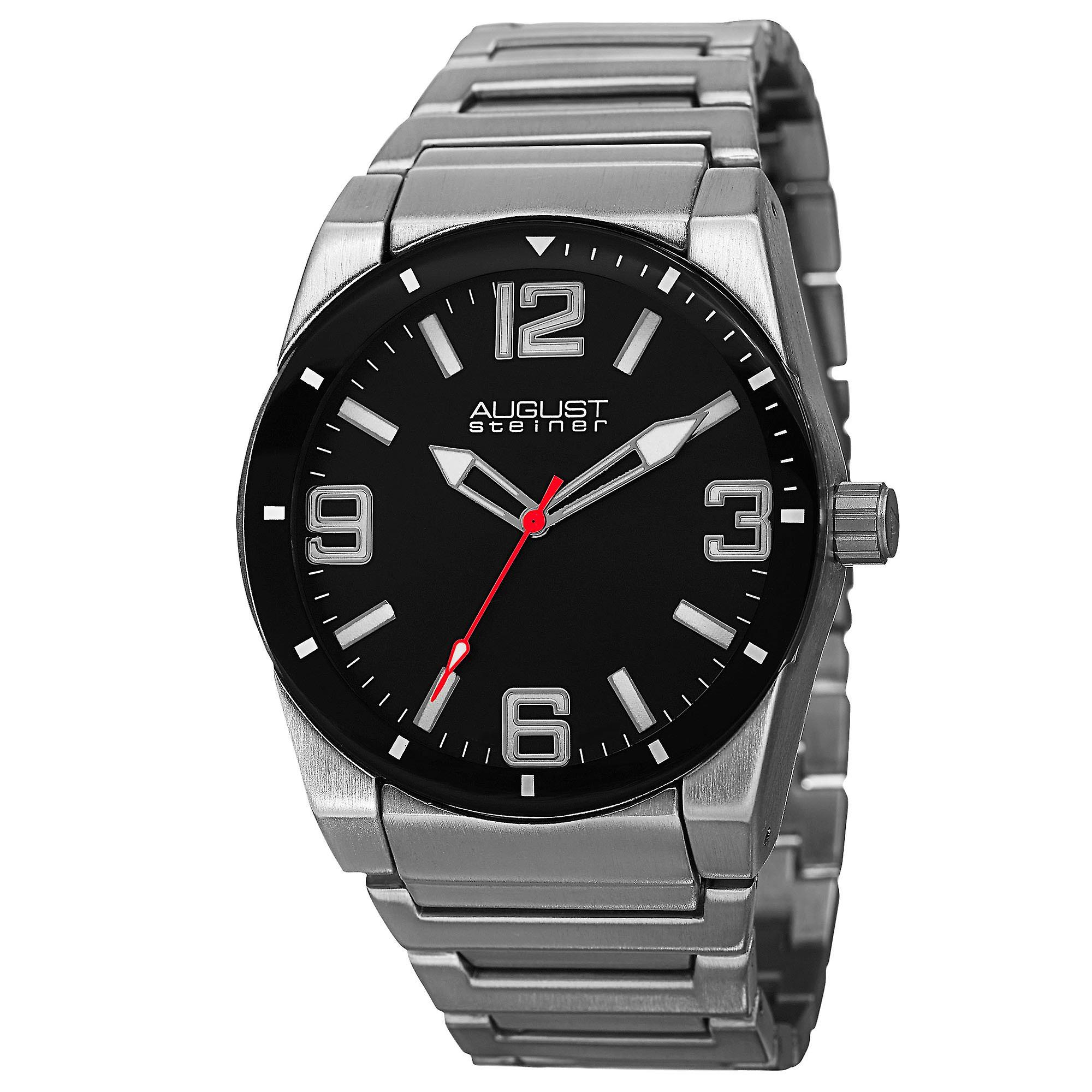 August Steiner AS8152SSB Classic Stainless Steel And Sport Watches