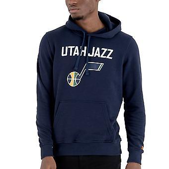 New Era Fleece Hoody-NBA Utah Jazz navy