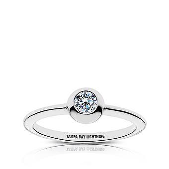 Tampa Bay Lightning Diamond Anillo en diseño de plata de ley por BIXLER