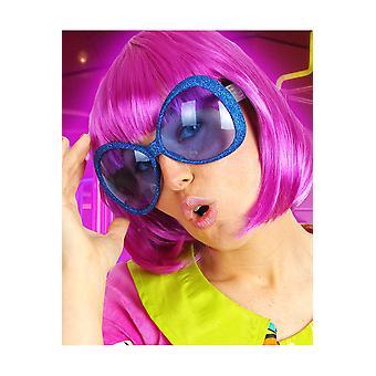 Glasses  Disco glasses glitter blue