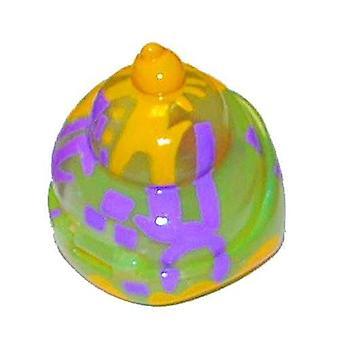 Xia-xia Shells - Mosaic - Green Yellow & Purple Swirl
