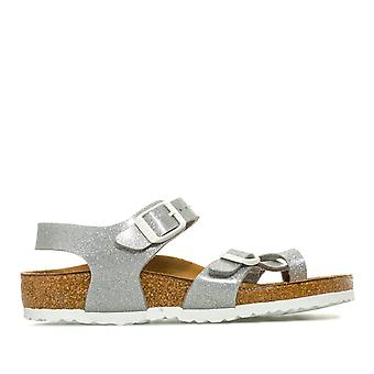 Infant Girls Birkenstock Taormina BF Magic Galaxy sandaalit hopea-anatomiset
