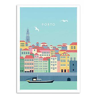 Kunst-poster-Porto-Katinka Reinke 50 x 70 cm