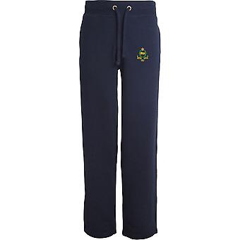 Kings Own Royal Border Regiment - lizenzierte britische Armee bestickt offenen Hem Sweatpants / Jogging Bottoms