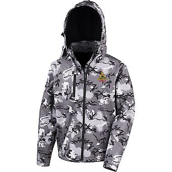 Royal Artillery Veteran - Licensed British Army Embroidered Performance Hooded Camo Softshell Jacket