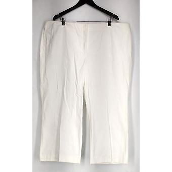 Alfani plus broek bijgesneden broek tummy controle witte Womens