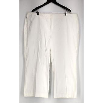 Alfani Plus Pantalon Cropped Trouser Tummy Control White Womens