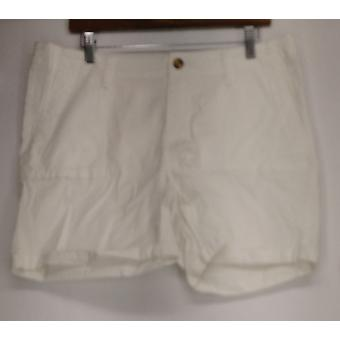 OSO Casuals Shorts Zipper Button Cierre Utilidad Corto Blanco A425963