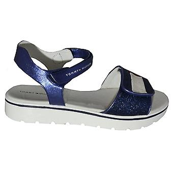 Tommy Hilfiger Girls Blue MultiStrap Sandals