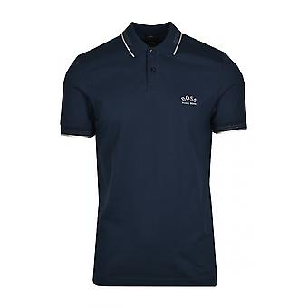 BOSS Athleisure Boss Paul Curved Polo Shirt Navy