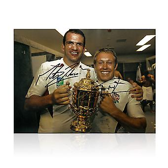 Jonny Wilkinson og Martin Johnson signert 2003 Rugby World Cup Foto
