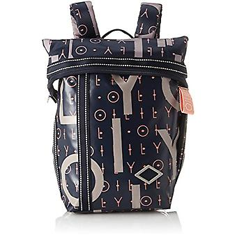 Oilily Lori Letters Backpack Mvf - Blue Women's Backpack Bags (Dark Blue) 13x26x22cm (B x H T)