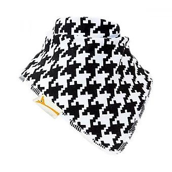 White & black checkered chic bandana bib