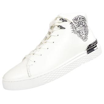 Ed Hardy New Beast High Top White/silver Trainers