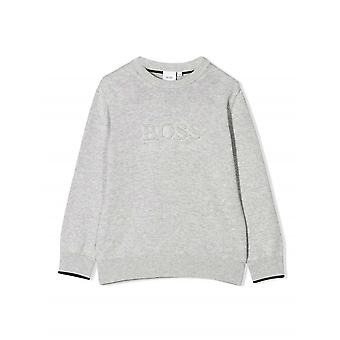 BOSS Kidswear Grey Cotton Sweatshirt