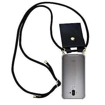 Cadorabo telefoon keten geval voor Huawei MATE 9 gevaldekking-ketting schouders geval silicone met snoer lint snoer en verwisselbare geval-Case cover beschermende gevaldekking