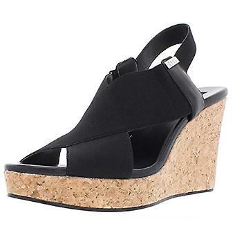 DKNY Womens Jamara Fabric Closed Toe Casual Platform Sandals