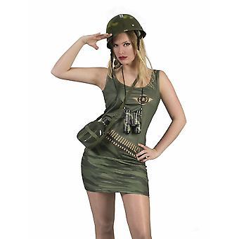 Puku mekko armeija Naisten seksikäs sotilas naamiointi sotilaallinen naamiointi värit Carnival Carnival naisten puku