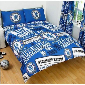 Chelsea FC Patch Doppel Bettdecke Set