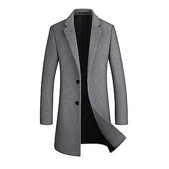 Allthemen miehet ' s uusi tyyli Mid-pitkä vankka käänne päällys takki