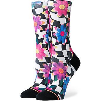 Stance Crazy Daisy Crew Socks in Black