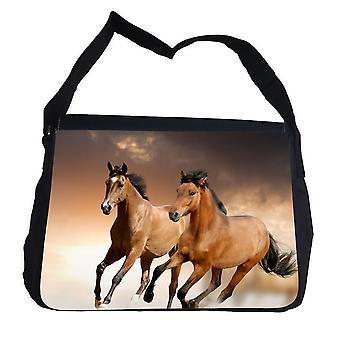 Paarden tas met schouderriem-perfecte schooltas