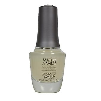 Morgan Taylor mattes en wrap Matt chip resistent lång sista Nail Top Coat