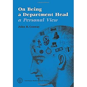 On Being a Department Head, a Personal View