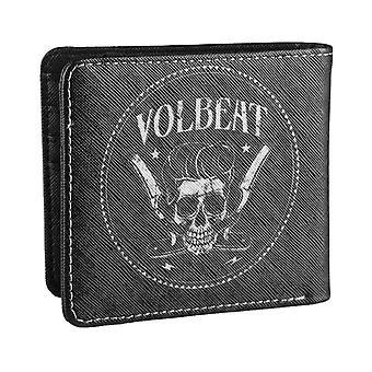 Volbeat Wallet Razorblade Skull Band Logo new Official Black Bifold