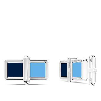 تامبا باي رايز الأشعة Colorblock المينا وصلات الكفة في الأزرق الداكن والأزرق الفاتح السماء في الفضة الاسترليني
