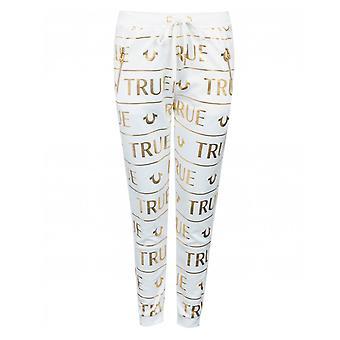 True Religion All Over Foil Logo Jogging Bottoms