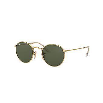 Ray-Ban Okrągłe Metal RB3447N 001 Złote/Kryształowe Zielone Okulary Przeciwsłoneczne